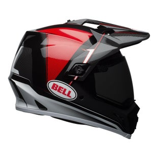 Bell MX9 Adventure MIPS Dual Road and Motocross Helmet - Berm Black Red White