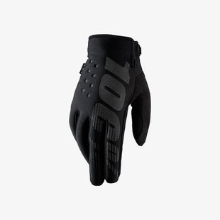 100 Percent Brisker Cold Weather YOUTH Boys Motocross Gloves - Black