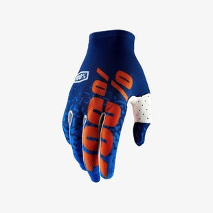 100 Percent Celium 2 Motocross Gloves - Flash Navy Orange