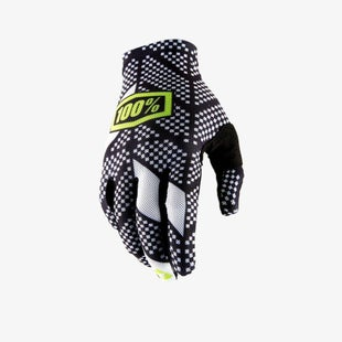 100 Percent Celium 2 Motocross Gloves - Code Black White