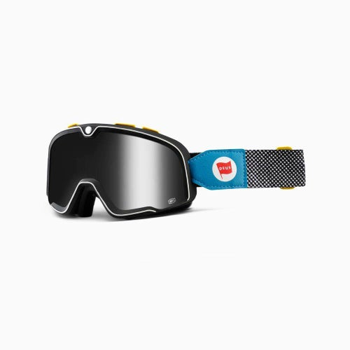 100 Percent Barstow Deus 17 Motocross Goggles - Silver Mirror Lens + Clear Le
