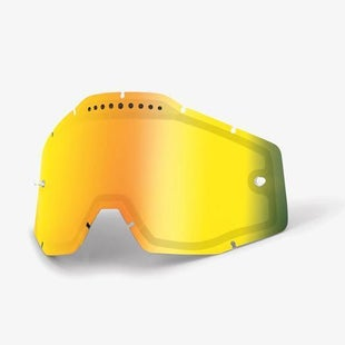 100 Percent Vented Motocross Goggle Lense - Mirror Gold Vented Dual