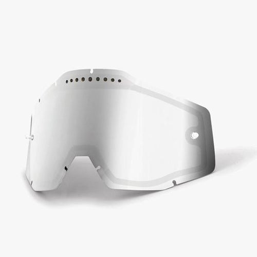 100 Percent Dual Vented Motocross Goggle Lense - Mirror Silver Vented Dual