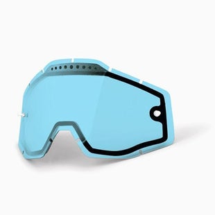 100 Percent Vented Motocross Goggle Lense - Blue Vented Dual