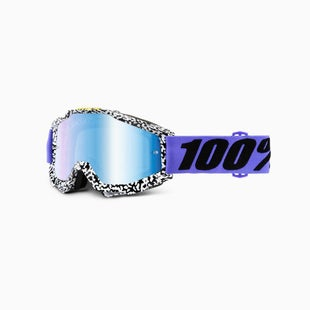 100 Percent Accuri Brentwood Motocross Goggles - Mirror Blue Lens + Clear Len