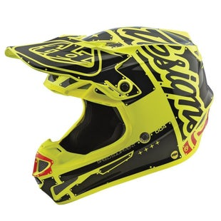 Troy Lee SE4 Polyacrylite YOUTH Boys Motocross Helmet - Factory Yellow