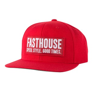 Fasthouse Block House Cap Cap - Red-red