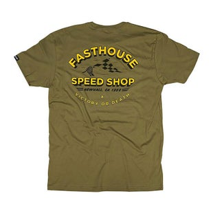 T-Shirt a Manica Corta Fasthouse Fh Bones - Olive