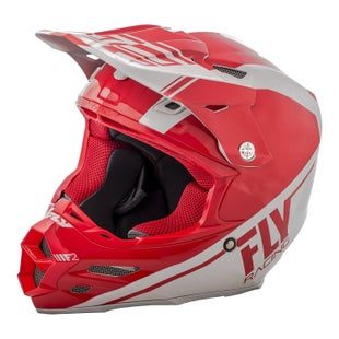 Fly F2 Carbon Rewire Motocross Helmet - Red Grey