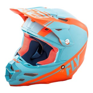 Fly F2 Carbon Rewire Motocross Helmet - Matte Blue Orange