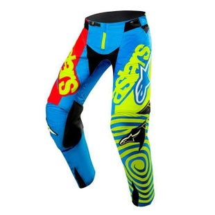 Calzones de MX Alpinestars Techstar Venom UNION MX - LE Blue Red Yellow
