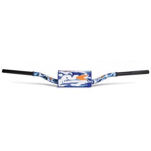 Neken Oversized Fat Bar Handlebars Blue Camo Inc Bar Pad Motocross Handlebars - 85cc High