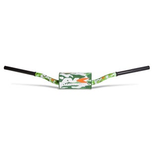 Neken Oversized Fat Bar Handlebars Green Camo Inc Bar Pad Motocross Handlebars - 85cc Low