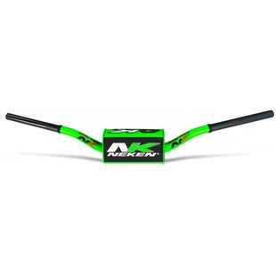 Neken Oversized Fat Bar Handlebars Green Black Inc Bar Pad Motocross Handlebars - 85cc Low