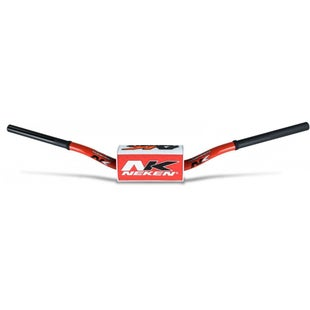 Neken Oversized Fat Bar Handlebars Red White Inc Bar Pad Motocross Handlebars - 85cc Low