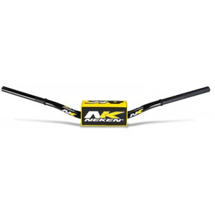 Neken Oversized Fat Bar Handlebars Yellow Black Inc Bar Pad Motocross Handlebars - 85cc Low