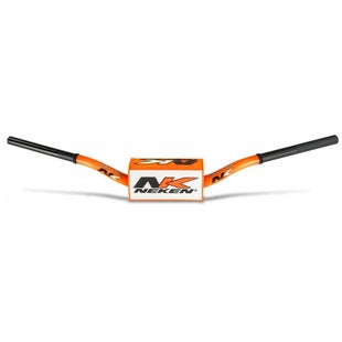 Neken Oversized Fat Bar Handlebars Flou Orange Inc Bar Pad Motocross Handlebars - 85cc High