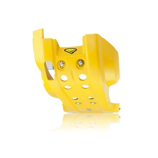Cycra Full Combat Skid Plate Husqvarna FE 350 1416 Skid And Bash Plate - Yellow