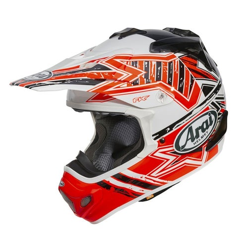 Arai MXV Motocross Helmet - Star Orange