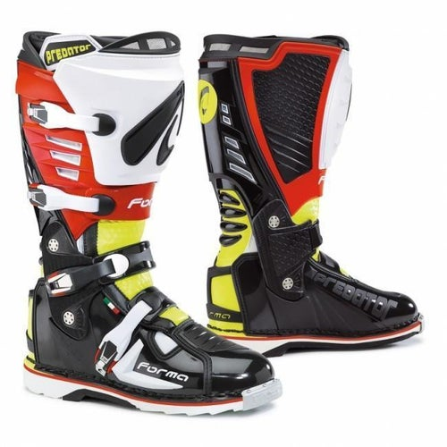 Forma Predator Motocross Boots - Black Fluo Yellow Red