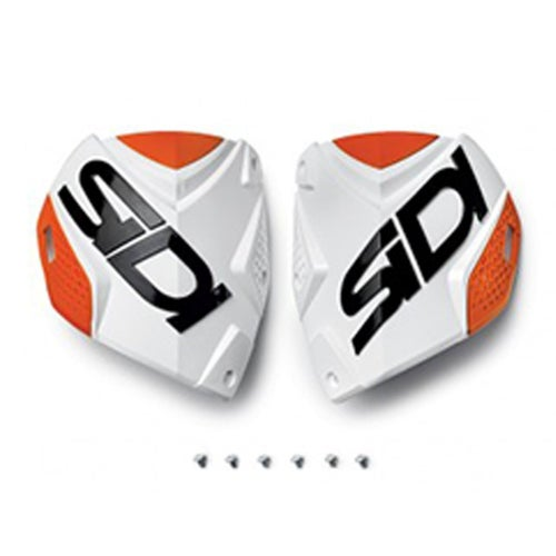 Motocross Boot Spares Sidi Crossfire 2 Shin Plate - White Orange