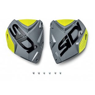 Motocross Boot Spares Sidi Crossfire 2 Shin Plate - Grey Yellow