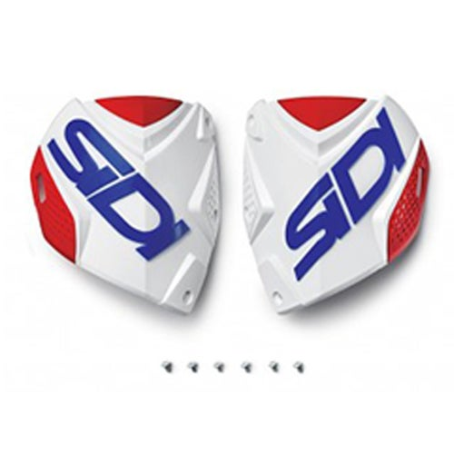 Sidi Crossfire 2 Shin Plate , Motocross Boot Spares - White Red Blue