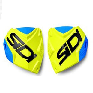 Motocross Boot Spares Sidi Crossfire 2 Shin Plate - Fluo Yellow Light Blue