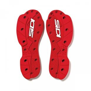Motocross Boot Spares Sidi SMS Supermoto Replacement Soles - Red