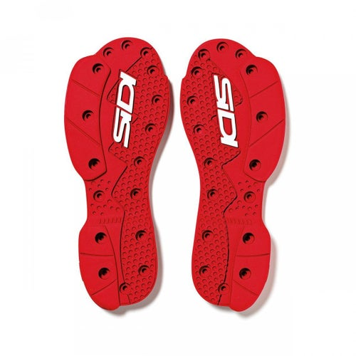 Sidi SMS Supermoto Replacement Soles , Motocross Boot Spares - Red