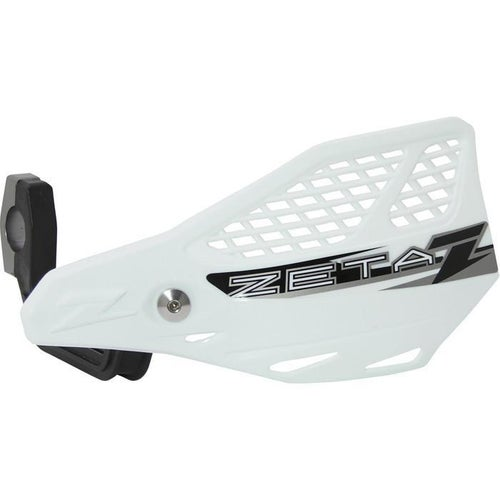Zeta Stingray Vented Handguard Enduro and MX Hand Guard - White