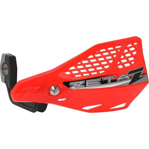 Zeta Stingray Vented Handguard Enduro and MX Hand Guard - Red