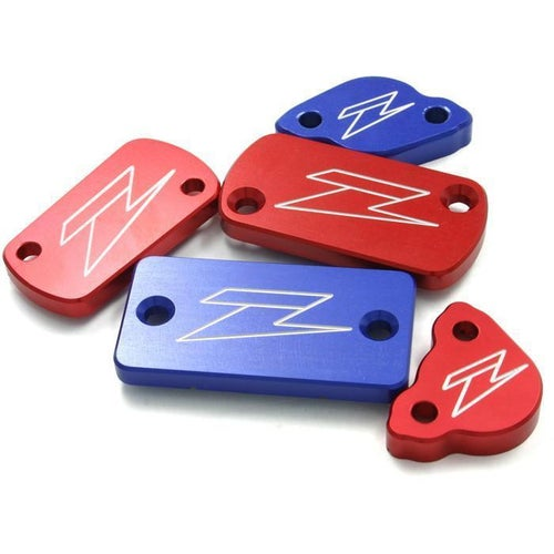 Zeta Front Brake Reservoir Cover Honda DRZ250L Brake Reservoir Cover - Red