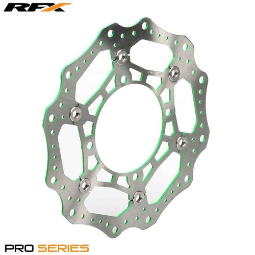 RFX Pro Floating Front Disc Green Kawasaki KXF450 2015 , Brake Disc - Green