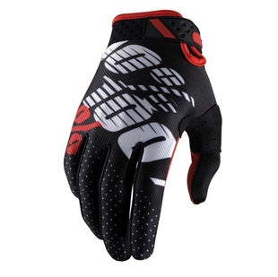 100 Percent 100 Ridefit Motocross Gloves - Black Red
