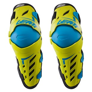 Leatt Dual Axis MX Motocross and Enduro Kniebeschermer - Lime Blue