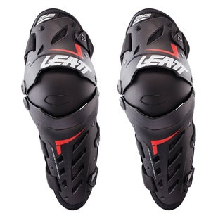 Leatt Dual Axis MX Motocross and Enduro Kniebeschermer - Black Red