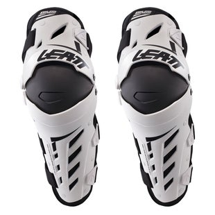 Leatt Dual Axis MX Motocross and Enduro Kniebeschermer - White Black