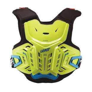 Leatt 25 MX Motocross and Enduro Chest Protector Boys Torso Protection - Lime Blue