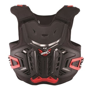 Leatt 45 MX Motocross and Enduro Chest Protector Torso Protection - Black Red