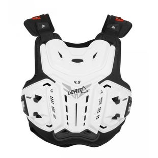 Leatt 45 MX Motocross and Enduro Chest Protector Torso Protection - White
