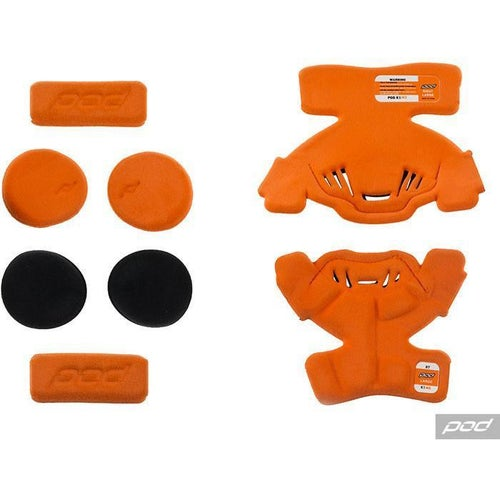 POD Pod K1 YTH MX Pad Set Medium RT Brace Spares - Orange