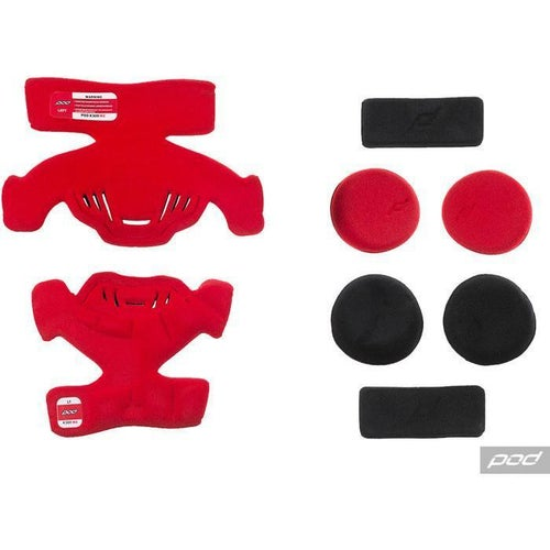 POD Pod K300 MX Pad Set RT Brace Spares - Red