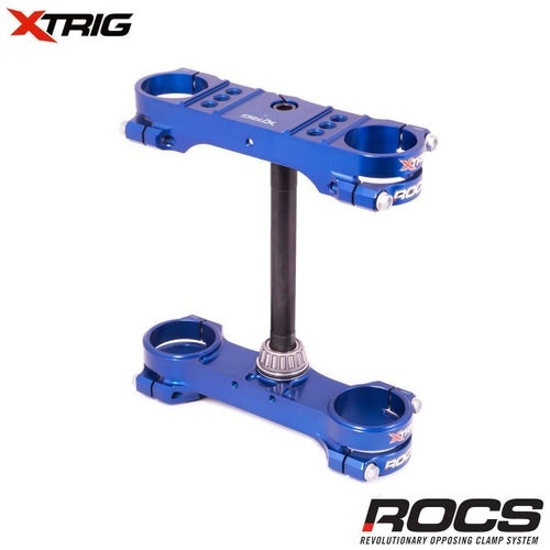 XTrig ROCS Tech Triple Clamp Set Husqvarna TC85 1417 14mm offset M1 Triple Clamp - Blue