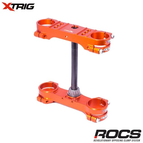 XTrig ROCS Tech Triple Clamp Set KTM SX85 0317 14mm offset M12 Triple Clamp - Orange