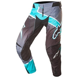 Alpinestars Techstar Venom Motocross Pants - Black Dark Grey Teal