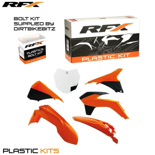 RFX Plastic Kit KTM OEM 1314 SXF250 350 450 13 Plastic Kit - 15 (6 Pc Kit) w Airbox Covers