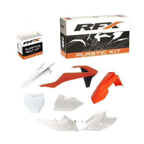 RFX Plastic Kit KTM OEM SXF250 350 450 16 Plastic Kit - 18 (6 Pc Kit) w Left Airbox Cover