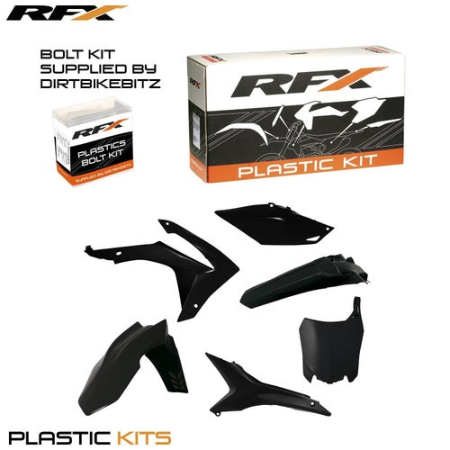 RFX Plastic Kit Honda Black CRF450 13 Plastic Kit - 16 (6 Pc Kit) w Airbox Covers