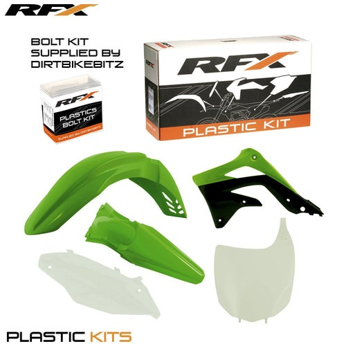 RFX Plastic Kit Kawasaki OEM KXF450 12 5 Pc Kit Plastic Kit - lastic Kit Kawasaki (OEM) KXF450 12 (5 Pc Kit)